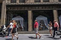 The Saks Fifth Avenue flagship store in New York on Friday, June 28, 2013. Hudson's Bay, a Canadian department store operator and also the owner of Lord & Taylor is reported to be interested in buying Saks, primarily for its real estate.(© Richard B. Levine)