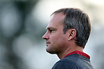 22 November 2013: Arkansas head coach Colby Hale. The University of Arkansas Razorbacks played the Saint John's University Red Storm at Koskinen Stadium in Durham, NC in a 2013 NCAA Division I Women's Soccer Tournament Second Round match. Arkansas won the game 1-0.
