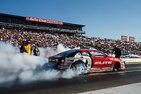 Nov 13, 2016; Pomona, CA, USA; NHRA pro stock driver Erica Enders-Stevens during the Auto Club Finals at Auto Club Raceway at Pomona. Mandatory Credit: Mark J. Rebilas-USA TODAY Sports