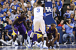 UK freshman forward Alex Poythress calls a time out after a loss ball scramble during the second half of the men's basketball game vs. LSU at Rupp Arena on Saturday, January 26, 2013, in Lexington, Ky. Photo by Kalyn Bradford | Staff
