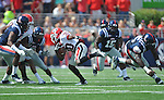 Georgia tailback Carlton Thomas (30) runs at Vaught-Hemingway Stadium in Oxford, Miss. on Saturday, September 24, 2011. Georgia won 27-13.
