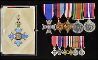 BNPS.co.uk (01202 558833)<br /> Pic DominicWinter/BNPS<br /> <br /> ***Please use full byline***<br /> <br /> Trubshaw's medals - CBE (in the case),  l-r Royal Victorian Order, 1939-1945 Star, France and Germany Star, Defence Medal, War Medal. <br /> <br /> The supersonic archive amassed by legendary Concorde test pilot Brian Trubshaw during his flying career is being sold by his family.<br /> <br /> The collection made by the late airman who was the first to fly the famous turbo-jet in Britain in 1969, includes all his log books covering his 30 years service.<br /> <br /> He went on to put Concorde through its paces, criss-crossing the globe at twice the speed of sound before the plane entered commercial service six years later.<br /> <br /> The archive is being sold by Dominic Winter Auctioneers, Glocs. on November 7th.
