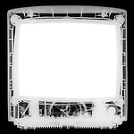 X-ray image of a monitor (white on black) by Jim Wehtje, specialist in x-ray art and design images.