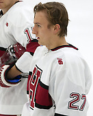 Viktor Dombrovskiy (Harvard - 27) - The Harvard University Crimson defeated the visiting Boston College Eagles 5-2 on Friday, November 18, 2016, at the Bright-Landry Hockey Center in Boston, Massachusetts.