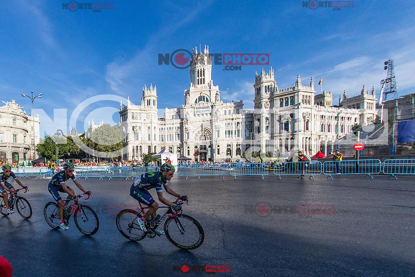 The platoon of La Vuelta across Cibeles square during the last stage or La Vuelta of Spain in Madrid. September 10, 2016. (ALTERPHOTOS/Rodrigo Jimenez) NORTEPHOTO.COM