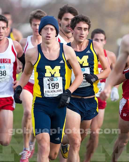 The University of Michigan men's cross country team finished as Big Ten runner-up at Forest Akers Golf Course in East Lansing, Mich., on October 28, 2012.