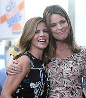 New York,NY- June 21: Natalie Morales, Savannah Guthrie  performs on NBC's 'Today' show at Rockefeller Plaza on June 21, 2016 in New York City. Credit: John Palmer / MediaPunch