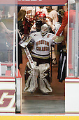 Molly Schaus (BC - 30) - The Boston College Eagles and the visiting University of New Hampshire Wildcats played to a scoreless tie in BC's senior game on Saturday, February 19, 2011, at Conte Forum in Chestnut Hill, Massachusetts.