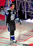 24 January 2009: Tampa Bay Lightning right wing forward Martin St. Louis is introduced prior to the NHL SuperSkills Competition, part of the All-Star Weekend at the Bell Centre in Montreal, Quebec, Canada. ***** Editorial Sales Only ***** Mandatory Photo Credit: Ed Wolfstein Photo