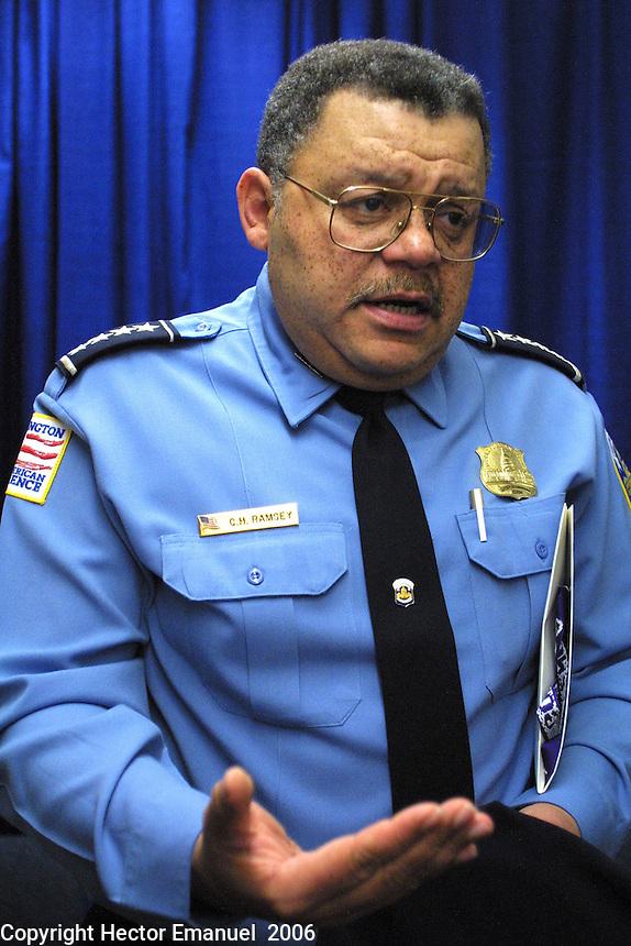 Washington DC Metropolitan  Police.DC Police Chief Ramsey<br />