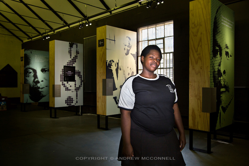Promise Shezi, 19, from Pinetown, pictured at the Ohlange High School in Inanda, South Africa. On April 27, 1994, Nelson Mandela cast his vote in the country's first all-race elections at a polling booth in the school.