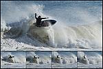 Big East Coast Surf in Folly Beach Sequence shot