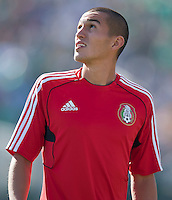 PASADENA, CA – June 25, 2011: Mexico player Jorge Torres Nilo (20) before the Gold Cup Final match between USA and Mexico at the Rose Bowl in Pasadena, California. Final score USA 2 and Mexico 4.
