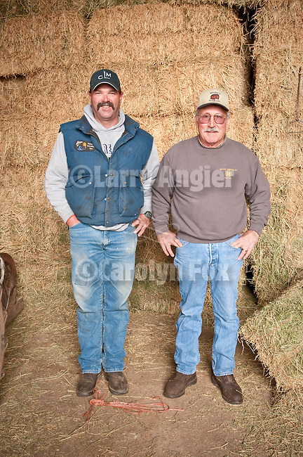 Families gather after Christmas at the Cuneo Ranch in California's Mother Lode. Two men.