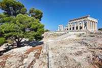 The Sanctuary of Aphaia (500 B.C.) on Aegina island, Greece