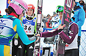 (L to R) Hendrickson Sarah (USA), Sara Takanashi (JPN),.MARCH 3, 2012 - Ski Jumping : FIS Ski Jumping World Cup Ladies in Zao, Individual the 11th Competition HS100 at Jumping Hills Zao,Yamagata ,Japan. (Photo by Jun Tsukida/AFLO SPORT) [0003]
