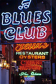 Neon signs, French Quarter, New Orleans, Louisiana, USA.