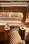 Ionic  columns of the Bath Gymnasium complex of Sardis, a typical example of the colonnaded palaestra front of a Hellenistic 1st cent. AD Greco Roman baths of the western &amp; southern region of Anatolia. Sardis archaeological site, Hermus valley, Turkey. A Harvard Art Museum excavation project.