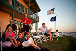 Guests and members await the fireworks at the Venice Island Duck Club in the Delta, July 4, 2010.