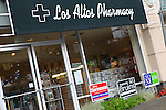 Controversy arose when the Los Altos Pharmacy displayed campaign signs for a select group of candidates and not all candidates.