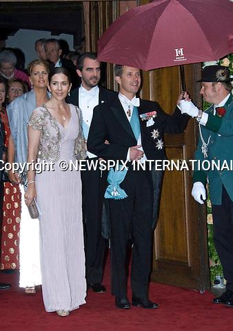 "CROWN PRINCE FREDERIK AND  CROWN PRINCESS MARY OF DENMARK.attend the wedding of Princess Nathalie of Sayn-Wittgenstein-Berleburg and Alexander Johannsmann,Bad Berleburg, Germany_18/06/2011.Mandatory Credit Photo: ©FRANCIS DIAS-NEWSPIX INTERNATIONAL..**ALL FEES PAYABLE TO: ""NEWSPIX INTERNATIONAL""**..IMMEDIATE CONFIRMATION OF USAGE REQUIRED:.Newspix International, 31 Chinnery Hill, Bishop's Stortford, ENGLAND CM23 3PS.Tel:+441279 324672  ; Fax: +441279656877.Mobile:  07775681153.e-mail: info@newspixinternational.co.uk"