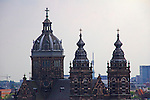 Europe, Netherlands, Amsterdam. Saint Nicholas Church, the biggest church in Amsterdam.