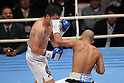 (L to R) Mario Macias (MEX), Koki Kameda (JPN), December 7, 2011 - Boxing : Koki Kameda of Japan and Mario Macias of Mexico during the WBA bantamweight title bout at Osaka Prefectural Gymnasium in Osaka, Japan. (Photo by Akihiro Sugimoto/AFLO SPORT) [1080]