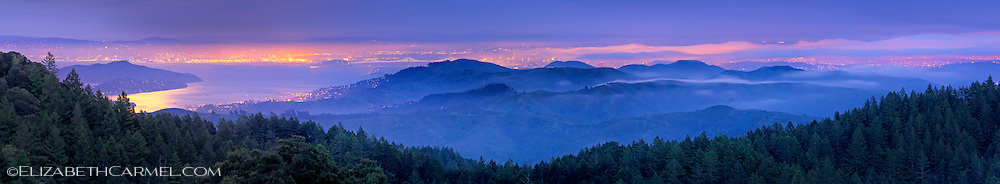 Moonrise over Marin