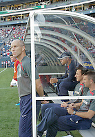 Head Coach Bob Bradley looks onto the field. USA defeated Grenada 4-0 during the First Round of the 2009 CONCACAF Gold Cup at Qwest Field in Seattle, Washington on July 4, 2009.