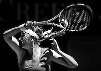 MELBOURNE, AUSTRALIA - JANUARY 16:  Victoria Azarenka of Belarus defeats Heather Watson of the UK at Rod Laver arena this morning on the first day of the Australian Open.  (Photo by Marianna Massey/Marianna Massey)