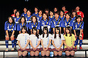 FC  Speranza FC Osaka Takatsuki team group (Speranza), NMB48, .FEBRUARY 16, 2012 - Football / Soccer : Speranza FC Osaka Takatsuki Press conference at NMB48 Theater in Osaka, Japan. Japanese ladies soccer team Speranza FC Osaka Takatsuki hold a joint press conference with members of NMB48, the Osaka version of the popular AKB48 idol group. Both women's soccer and girls idol groups are hugely popular in Japan after the national team's success at the Womens Soccer World Cup and the growing success of AKB48.