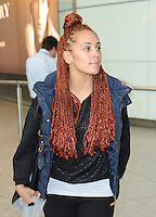 Oritse Williams And New Girlfriend Aimee Jade Arrive Back At Heathrow Airport