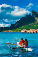 French Polynesia-Bora Bora-Four Seasons Resort-People