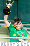 Dara Moynihan The Sem captain Dara Moynihan celebrates his teams victory over Pobalscoil Chorca Dhuibhne at Austin Stack Park on Wednesday.
