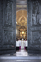 Pope Francis ceremony the Bull of the Jubilee  in St. Peter's Basilica the Vatican, April 11, 2015