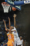UK center DeNesha Stallworth shoots a layup during the second half of the UK Hoops vs. Tennessee at Memorial Coliseum in Lexington, Ky., on Sunday, March 3, 2013. Photo by Emily Wuetcher | Staff....