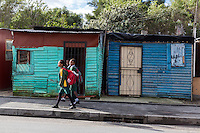 South Africa, Cape Town, Guguletu Township, Low-income Houses.
