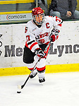 2 January 2009: St. Lawrence Saints' defenseman and Team Co-Captain Shawn Fensel, a Senior from Nepean, Ontario, in action against the Ferris State Bulldogs in the first game of the 2009 Catamount Cup Ice Hockey Tournament hosted by the University of Vermont at Gutterson Fieldhouse in Burlington, Vermont. The Saints defeated the Bulldogs 5-4 to move onto the championship game against the University of Vermont Catamounts...Mandatory Photo Credit: Ed Wolfstein Photo