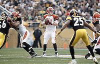 PITTSBURGH, PA - DECEMBER 04: Andy Dalton #14 of the Cincinnati Bengals drops back to pass against the Pittsburgh Steelers during the game on December 4, 2011 at Heinz Field in Pittsburgh, Pennsylvania.  (Photo by Jared Wickerham/Getty Images)