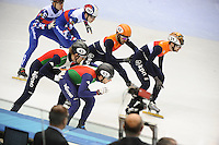 SHORT TRACK: TORINO: 15-01-2017, Palavela, ISU European Short Track Speed Skating Championships, Final Relay Men, Team Italy, Team Russia, Team Netherlands, ©photo Martin de Jong