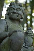A statue on the slope of Mount Takao.