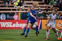 Seattle, WA - Sunday, May 21, 2017: Kristen McNabb during a regular season National Women's Soccer League (NWSL) match between the Seattle Reign FC and the Orlando Pride at Memorial Stadium.