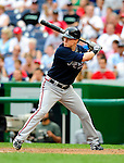 5 July 2009: Atlanta Braves' center fielder Nate McLouth in action against the Washington Nationals at Nationals Park in Washington, DC. The Nationals defeated the Braves 5-3, to take the rubber game of their 3-game weekend series. Mandatory Credit: Ed Wolfstein Photo