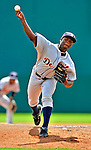 15 March 2009: Detroit Tigers' pitcher Alfredo Figaro on the mound during a Spring Training game against the Washington Nationals at Space Coast Stadium in Viera, Florida. The Tigers shut out the Nationals 3-0 in the Grapefruit League matchup. Mandatory Photo Credit: Ed Wolfstein Photo