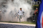 Ole Miss head coach Houston Nutt leads the team onto the field vs. Louisiana Tech in Oxford, Miss. on Saturday, November 12, 2011.