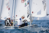 20140331, Palma de Mallorca, Spain: SOFIA TROPHY 2014 - 850 sailors from 50 countries compete at the ISAF Sailing World Cup event. Laser - USA203751 - Erik Bowers. Photo: Mick Anderson/SAILINGPIX