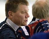 Tom Ward (USA - Assistant Coach) - Team USA practiced at the Agriplace rink on Monday, December 28, 2009, in Saskatoon, Saskatchewan, during the 2010 World Juniors tournament.
