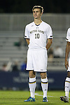 17 October 2014: Notre Dame's Brandon Aubrey. The Duke University Blue Devils hosted the Notre Dame University Fighting Irish at Koskinen Stadium in Durham, North Carolina in a 2014 NCAA Division I Men's Soccer match. Notre Dame won the game 4-1.