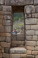 """Machu Picchu, the ancient """"lost city of the Incas"""", 1400 CA, 2400 meters. Discovered by Hiram Bingham in 1911. One of Peru's top tourist destinations."""