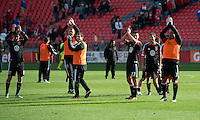 05 May 2012: The D.C. United players acknowledge the DC United fans during an MLS game between DC United and Toronto FC at BMO Field in Toronto..D.C. United won 2-0.